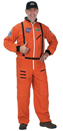 Orange Astronaut Jumpsuit Adult Mens Costumes (Aeromax Costumes Mens Fancy Orange Space Suit Nasa Astronaut Theme Party Dress, Large)