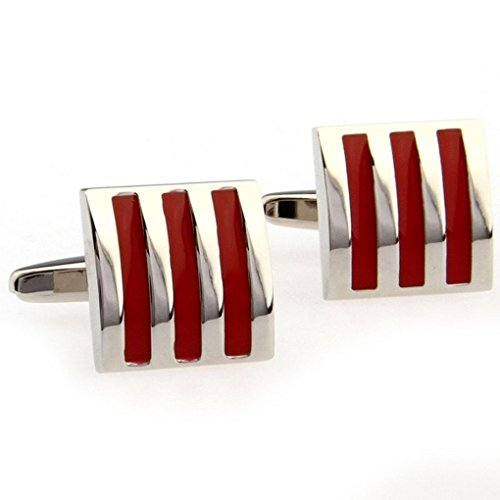 EOVE Red Onyx Square Cufflinks