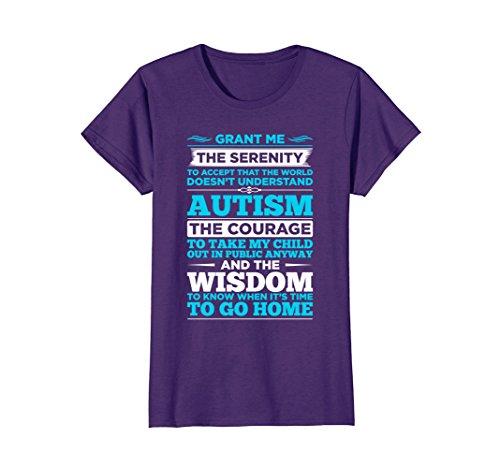 Womens Autism Awareness Shirt - Autism Serenity Prayer T-Shirt XL (Serenity Prayer T-shirt)