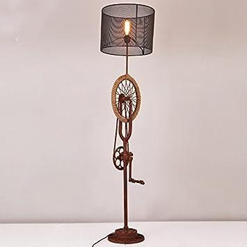 GUTOU-LDD Lámpara de pie Decoración De La Rueda De La ...
