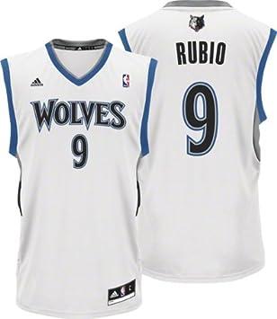 Ricky Rubio Minnesota Timberwolves White Replica Jersey XXX-Large