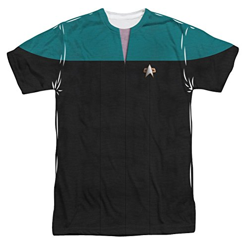 Star Trek The Next Generation Voyager Science Uniform Costume All Over Print Front T-Shirt Large Multi (Star Trek Voyager Costume)