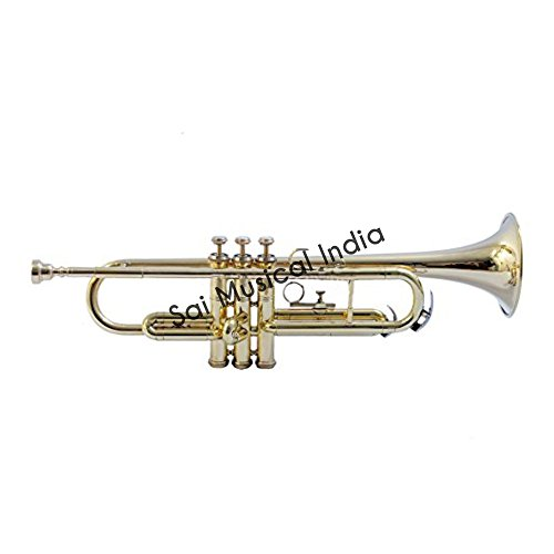 Queen Brass E MUSICALS B FLAT TRUMPET BRASS WITH FREE HARD CASE + MOUTH PIECE by Queen Brass