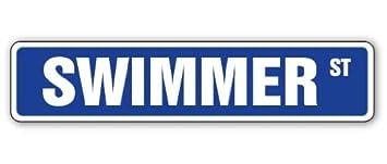 Swimmer Street Decal Swimming Lane Pool Team Coach /7 Wide Indoor//Outdoor