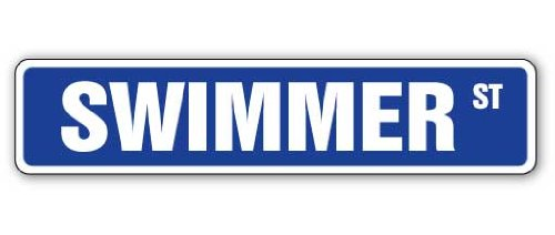 SignMission SWIMMER Street Sign product image