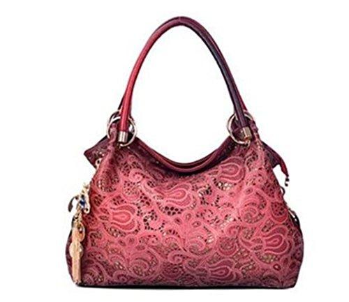 ZXH nuevos bolsos de moda de alta calidad de Europa y América vintage hueco tallado bolso del bolso del hombro , D A