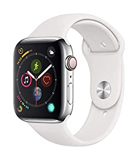 Apple Watch Series 4 (GPS + Cellular, 44mm) - Stainless Steel Case with White Sport Band (B07HRB8QDR) | Amazon price tracker / tracking, Amazon price history charts, Amazon price watches, Amazon price drop alerts