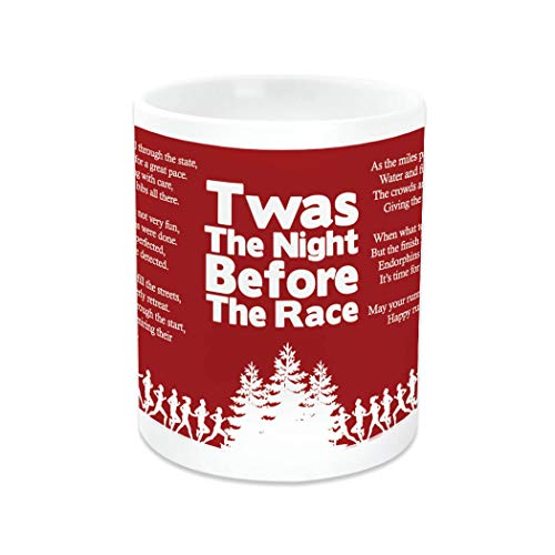- Gone For a RUN TWAS The Night Before The Race | Running Ceramic Mug Red and White