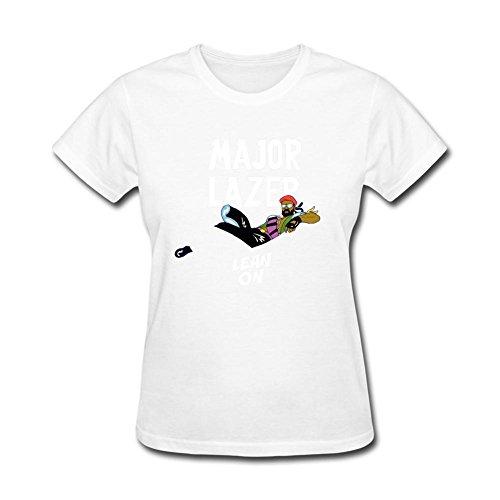 CNTJC Women's Major Lazer Y DJ Snake T Shirt XXL (Major Johnson T-shirt)