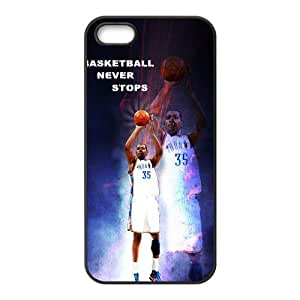 Fashion basketball never stops Personalized iPhone 5 5S Rubber Silicone Case Cover