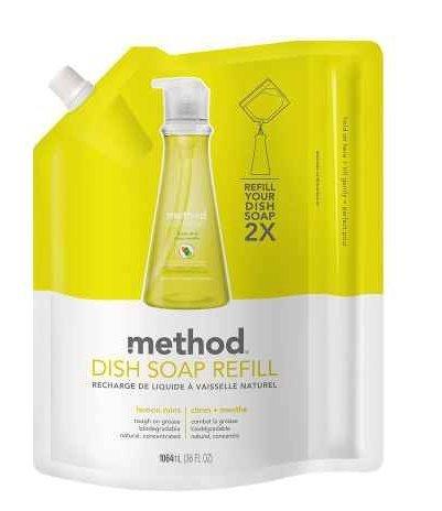 Natural! Method Dish Soap Refill Lemon Mint36.0 oz.(2pk)