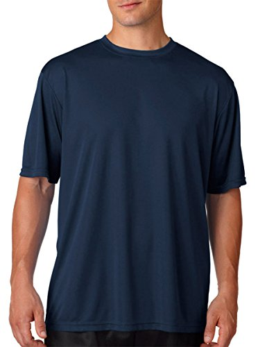 A4 Men's Cooling Performance Crew Short Sleeve T-Shirt, Navy, Medium