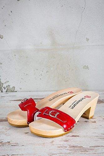 Berkemann Damen Holz Clogs Rot