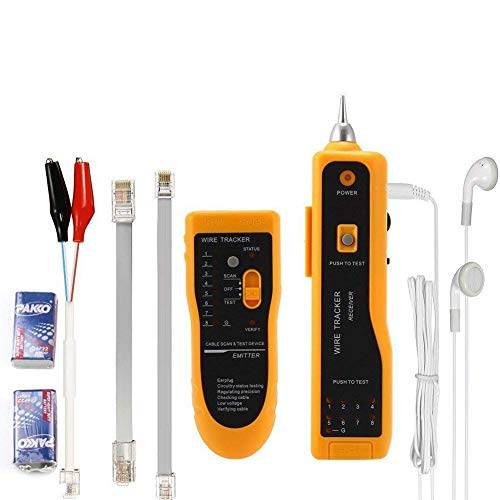 Wire Tracker,RJ11 RJ45 Line Finder Cable Tester for Network LAN Ethernet Cable Collation, Phone Telephone Line Test Wire Tracer Cable Tracker