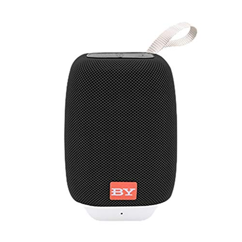 TOTAMALA Mini Portable IPX6 Waterproof Wireless Bluetooth 5.0 Speaker Player FM Audio 360 Degree Stereo HD Audio Enhanced bass 8 Hours Music Player Black