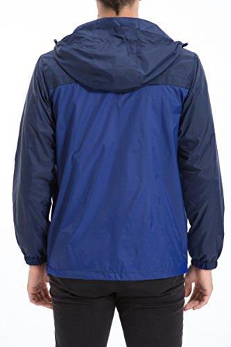 Trailside Supply Co. Men's Water Resistant Jacket Front Zip Hooded windbreaker