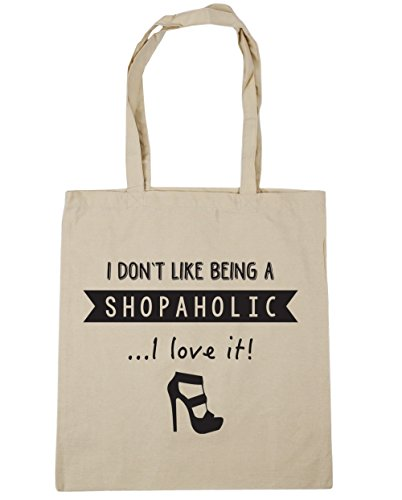 Gym Like Don't I Beach Natural Shopping x38cm 42cm HippoWarehouse 10 Tote It litres I Being A Shopaholic Bag Love wPWq4g