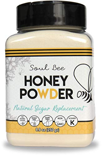 Soul Bee CRYSTALLIZED HONEY - Natural Sweetener Low in Calories - Non-GMO, Gluten Free, Dairy Free, Kosher - Superfood Powder ()
