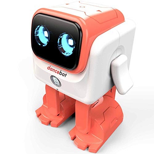 ECHEERS Dance Robot Toys for Kids, Boys and Girls, Educational Music Dancing Robot Kids Toys, Rechargeable Music Robot Speaker Follow Beats Rhythm, 3 Years+ Coral ()
