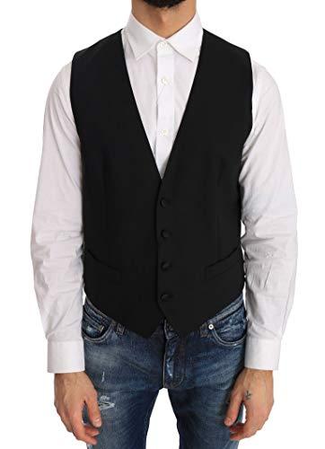 (Dolce & Gabbana Black Wool Silk)