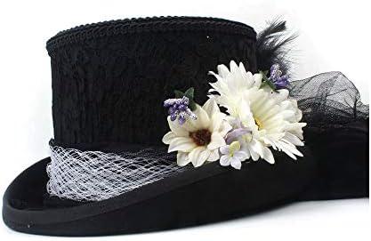 11dfda9a06c42 GHC Gorras y Sombreros Sombrero de Copa Victoriano Estilo Steampunk de Bodas  Sombrero de Marfil Blanco. Cargando imágenes... Atrás. Pulsa ...