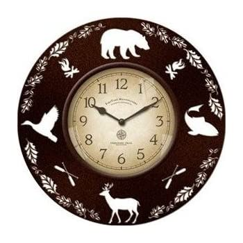 Amazon Com 22 Inch Adirondack Wall Clock Home Amp Kitchen