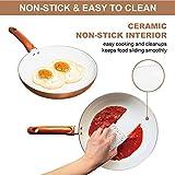 Non-Stick Ceramic Frying Pan, Aluminum, 8in, Copper