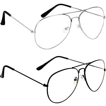 Dervin Transparent Night Driving Aviator Sunglasses for Men and Women Combo of 2(53 Unisex Sunglasses)