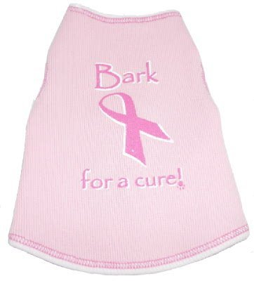 I See Spot's Dog Pet Cotton T-Shirt Tank, Bark for a Cure, XX-Large, Pink, My Pet Supplies