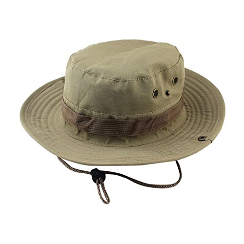 ❤ Fulijie Fisherman's Cap, Adjustable Nepalese Cap Army Mens Fisherman Hat Outdoor Sun Protection Hunting Hat Khaki