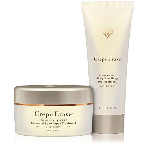 Crépe Erase - 2-Step Advanced Body Treatment System - w/Advanced Body Repair Treatment & Body Smoothing Pre-Treatment - Fragrance Free - 2 Piece Kit/Introductory Size