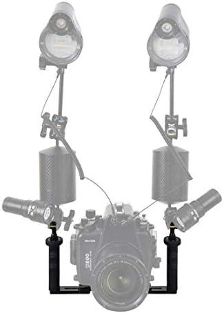 KANEED 水中撮影機材 ダイビングアクセサリー 水中カメラ·ハウジングのデュアル·ハンドル·アルミ·トレイ·スタビライザー