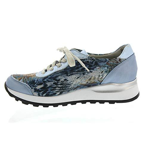 Sky Cuero Waldläufer 267 320 Notte Zapatos Cordones De Para H64001 Mujer FzqfwBP