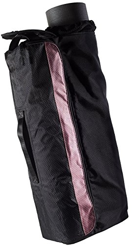 Yoga Mat Bag for Women and Men Extra Large Fitness Yoga Gym Bag with Pockets Hot, Thick, with Compartments Yoga Mats carrying Bag with Strap - Black/Pink