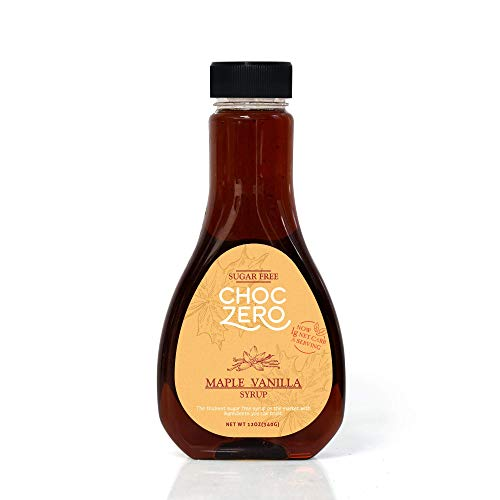 Honest Syrup, Maple Vanilla. Sugar free, Low Carb, No preservatives. Thick and Rich. Sugar Alcohol free, Gluten Free, Pancake and Waffle topping. 1 Bottle(12oz) (Premium Belgian Chocolate Truffles)