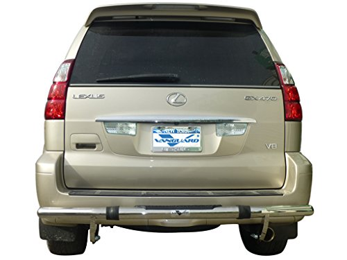 VANGUARD VGRBG-1277-0754SS 2003-2009 Lexus GX ,GX470 Rear Bumper Guard Single Tube Pintle S/S