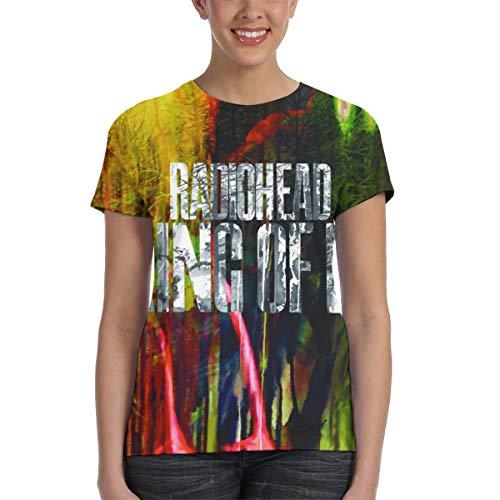Radiohead The King of Limbs Women Music Theme Print T-Shirt M Black