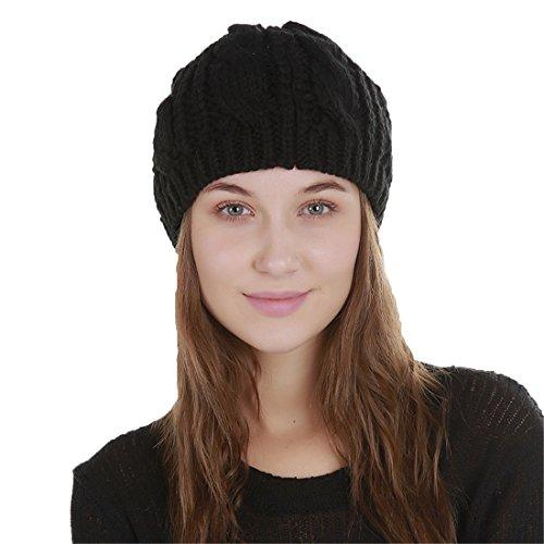 Chat Noir Femme Chapeau Bonnet Chaud Oreille Tricoté Acvip Tresser xHFIaZw