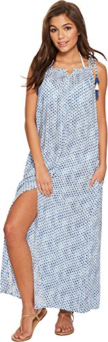 Red Carter Women's Tahitian Tide Maxi Dress Cover-Up Ocean - Carters Up Cover