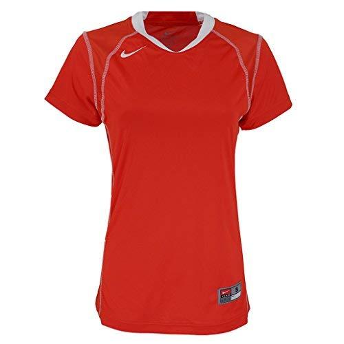 (NIKE Women's Stock Jersey Orange/White S)