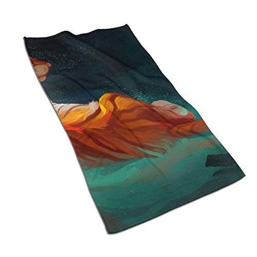 EnIu5a5a98 Watercolour Tiger Microfiber Towel Perfect Sports & Travel. Fast Drying - Super Absorbent - Ultra Compact ()