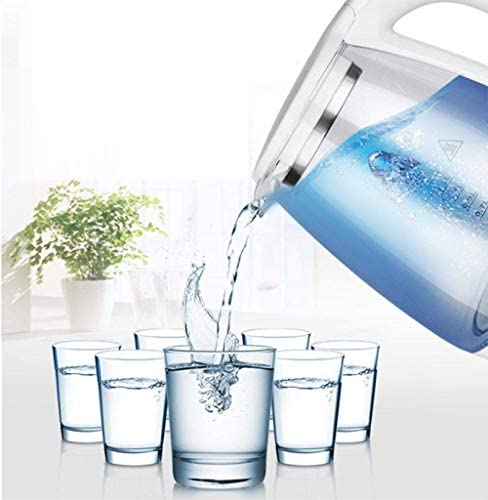 HLJ Transparante waterkoker for het huis 2 liter ecologische waterkoker met verlichte LED Automatische uitschakeling en anti-droge