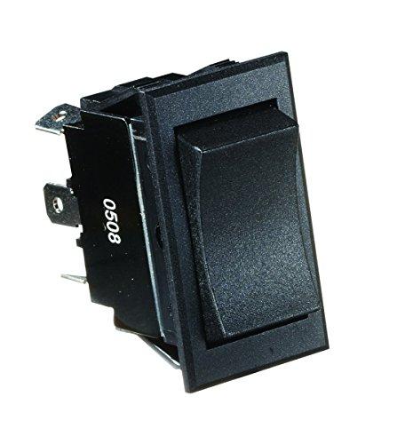 - RV Designer S225, Rocker Switch, 20 Amp, Momentary On / Off / Momentary On, DPDT, Black