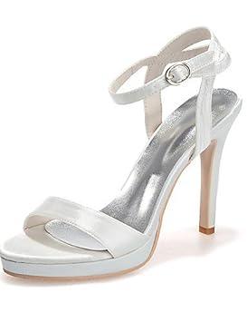 ShangYi Zapatos de boda – Sandalias – Boda – abierta planeta y día – Negro a6f3912eda8d