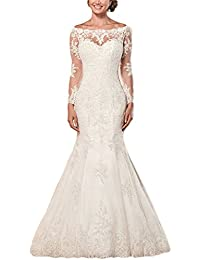 4df1bddf97 Women s Off Shoulder Long Sleeve Wedding Dress 2018 Bridal Gown Floor  Length FWD002