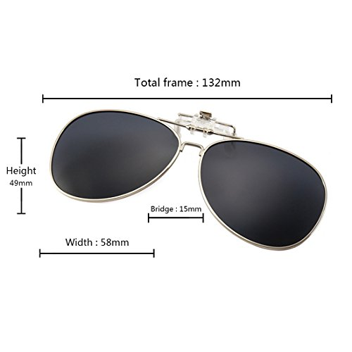Huicai de en Gafas libre de Oscuro deportes gafas sol al sol para abatibles aire polarizadas Gris InFn5xTr