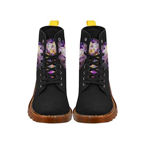 LEINTEREST Amazing Floral Skull Martin Boots Fashion Shoes For Women cy1T9kv43A