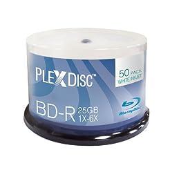 PlexDisc 633-214 25 GB 6X Blu-ray White ...