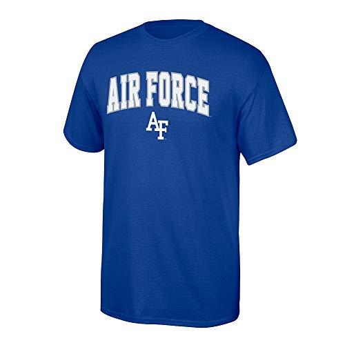 - Elite Fan Shop NCAA Men's Air Force Falcons T Shirt Team Color Arch Air Force Falcons Blue X Large