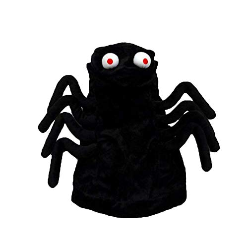 Coppthinktu Spider Dog Costume - Halloween Funny Spider Style Costume Hoodies Outfit Apparel - Large